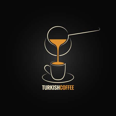 recipe background: coffee cup turkish recipe background