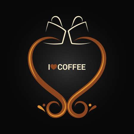logos restaurantes: taza de café concepto de fondo el amor