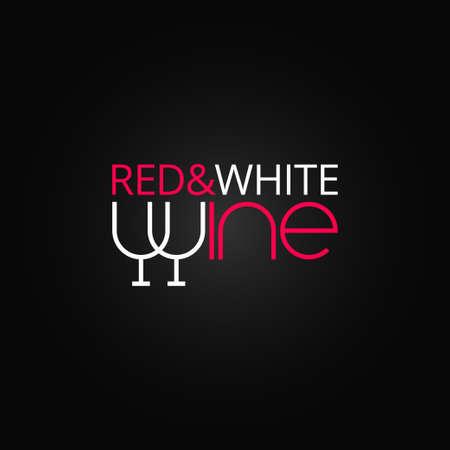 ワイン グラス ラベル デザインの背景  イラスト・ベクター素材