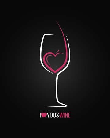 와인 유리 개념 배경