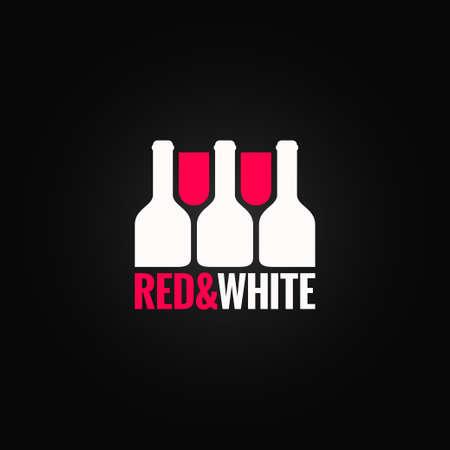 wine label design: wine glass bottle design background Illustration