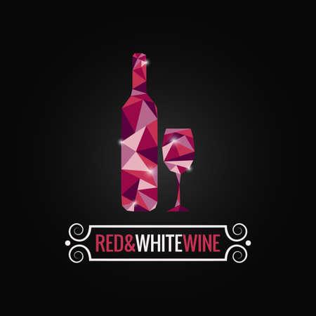ワインの瓶ポリ デザインの背景