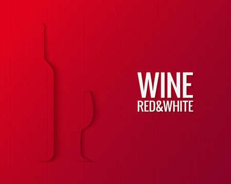 ワイン グラス ボトル紙カード背景