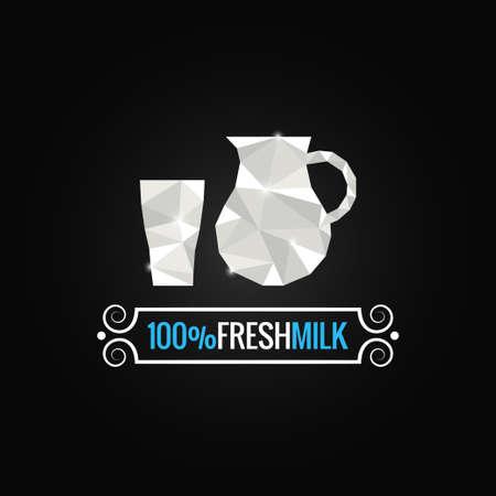 milk glass poly design background Vector
