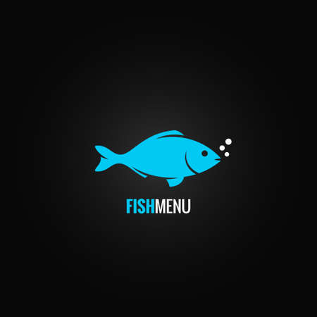 logo poisson: poissons fond conception Illustration