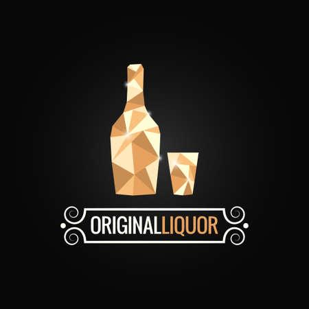 botella de licor: licorería diseño poli fondo