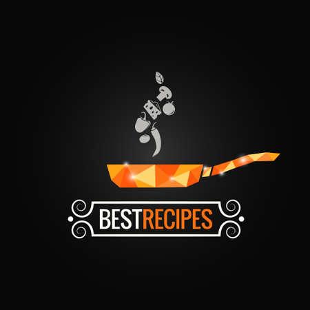frying pan poly design background Illustration