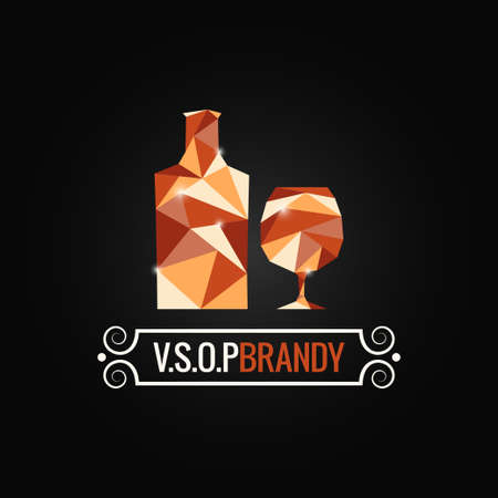 brandy: brandy glass poly design background