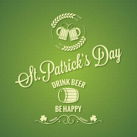 irish beer: Patrick day beer design background