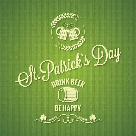 Patrick day beer design background Vector
