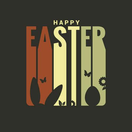 Pascua etiqueta de diseño de fondo Foto de archivo - 37690429