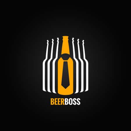 jefe: botella de cerveza concepto jefe de diseño de fondo Vectores