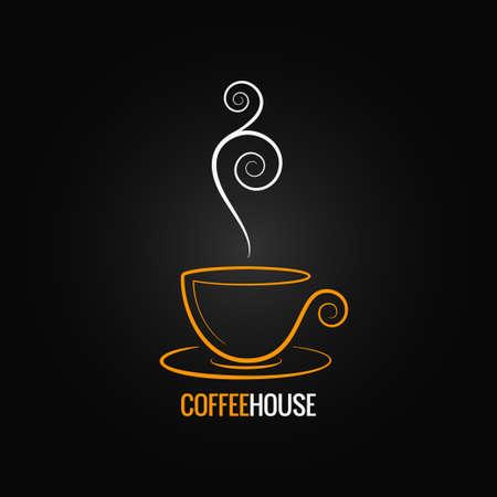 koffiekopje sierlijke ontwerp achtergrond