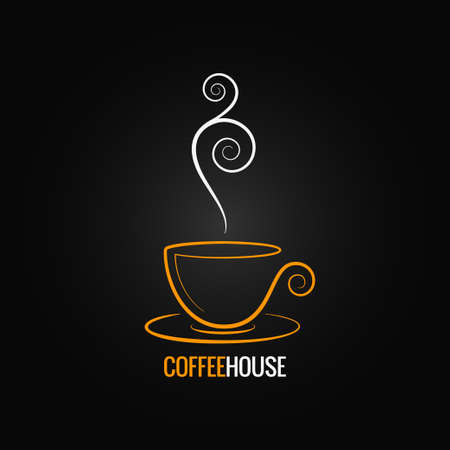 coffee cup ornate design background