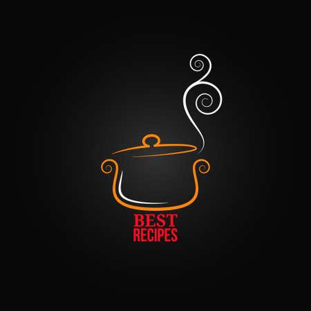 chef cocinando: cacerola de fondo ornamento Vectores