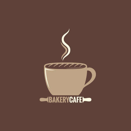 bake sale sign: coffee cup bakery concept background