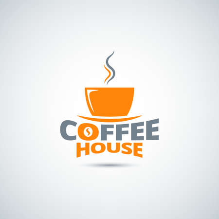 coffee cup label menu background Illustration