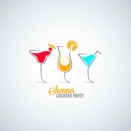 hour glass: cocktail summer party menu background