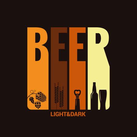 맥주 라벨 디자인 배경 일러스트