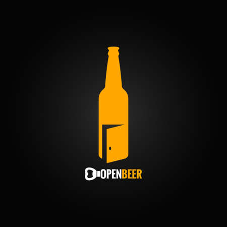 beer bottle open concept background