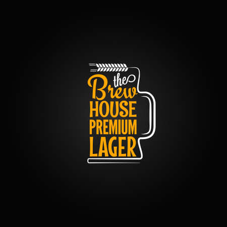 beer label design: beer mug design background