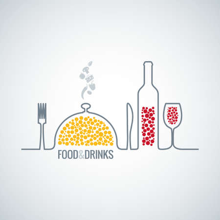 comida e bebida fundo