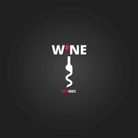 wine cellar bottle concept design background Illustration