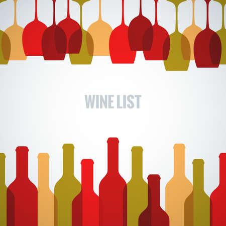 bebiendo vino: copa de vino botella de fondo de arte Vectores