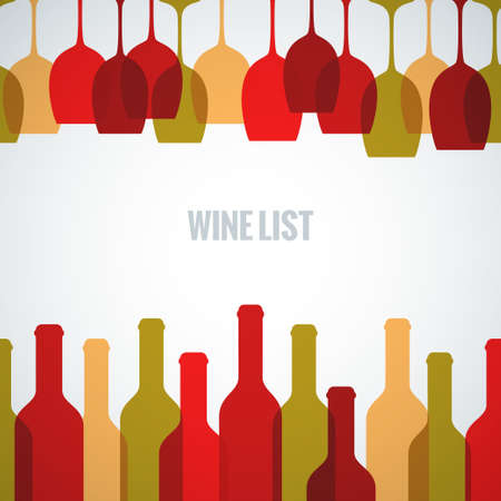 wine label design: wine glass bottle art background