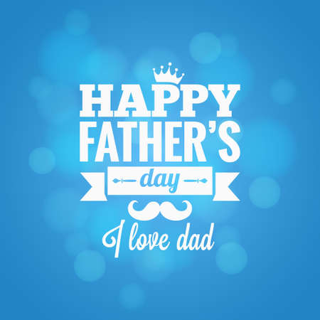 happy people white background: fathers day party design background