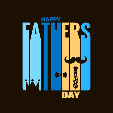 fathers day holiday design background Illustration