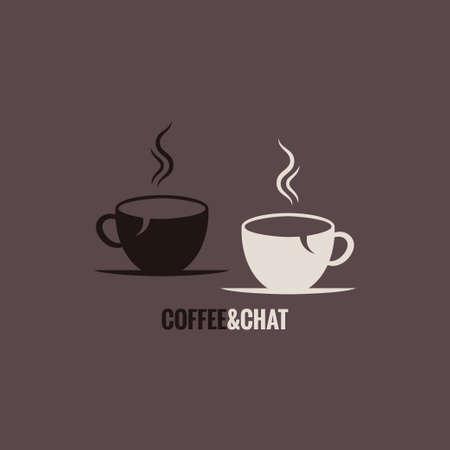 コーヒー カップ チャット概念の背景