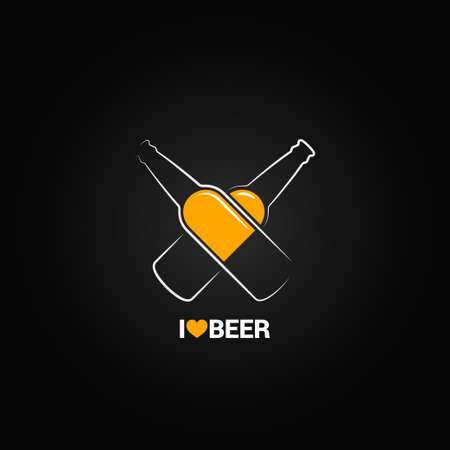 beer bottle concept design background
