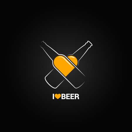 bierfles conceptontwerp achtergrond