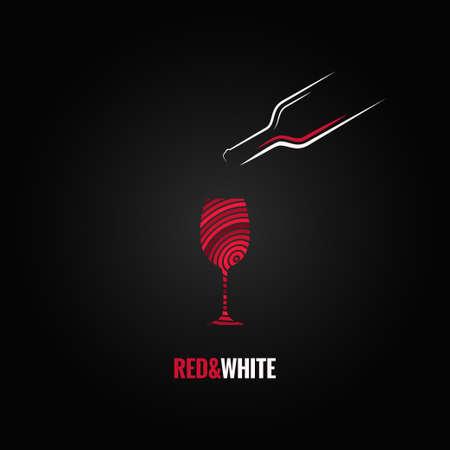 wijnglas art design achtergrond Stock Illustratie