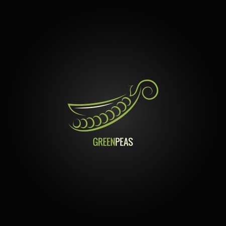 legume: peas design background