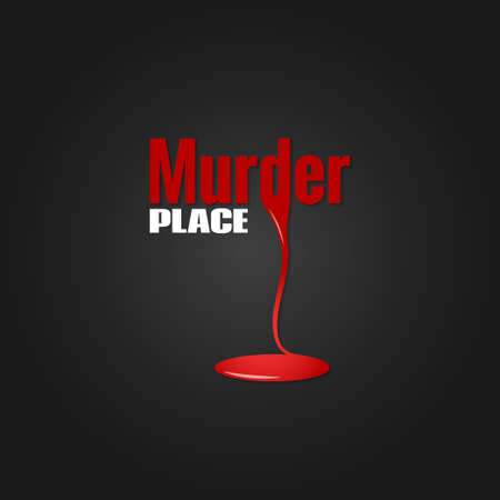 murder scene: murder blood design background Illustration