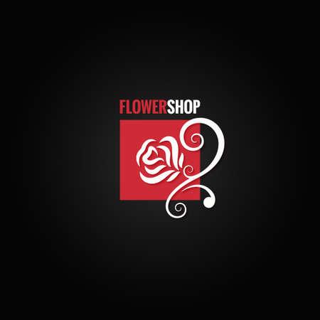 flower rose: flower rose shop concept design background Illustration