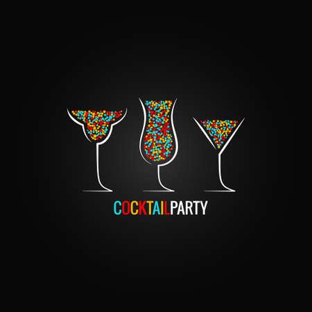 logos restaurantes: cóctel de diseño de la fiesta de fondo