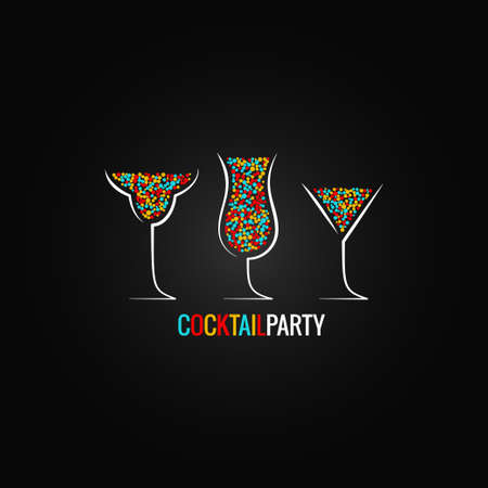 hour glasses: cocktail party design background