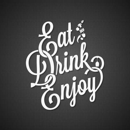 food and drink vintage lettering background