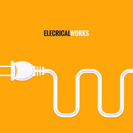 unplugged: enchufe el�ctrico de dise�o de alambre de fondo