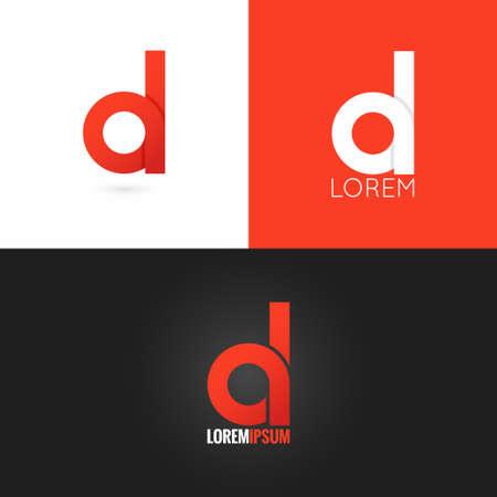 Letra D de diseño de logotipo conjunto de iconos de fondo Foto de archivo - 41350213