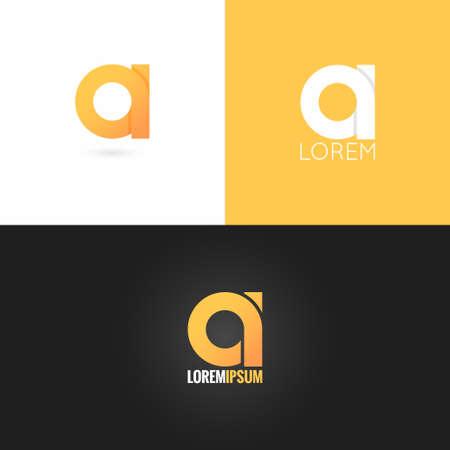 the abc: letter  logo design icon set background