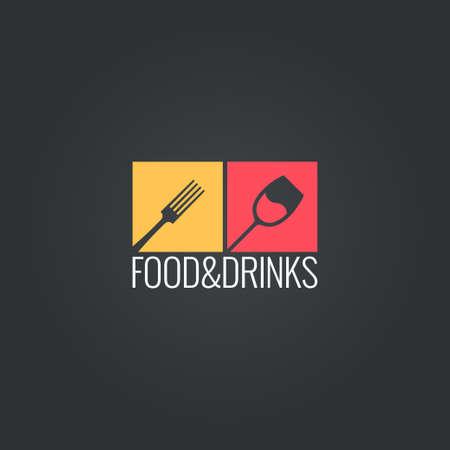 음식 음료 메뉴 디자인 배경 일러스트