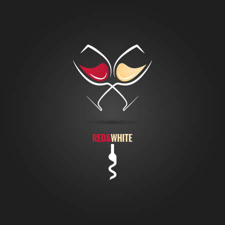 wine glass concept design background Illustration