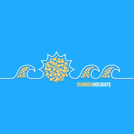 background summer: summer holiday line design background