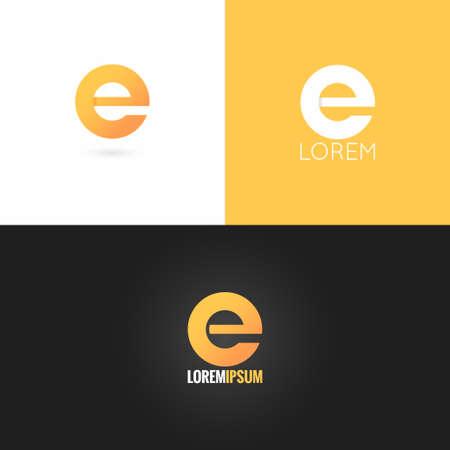 letter E logo design icon set background  Illusztráció
