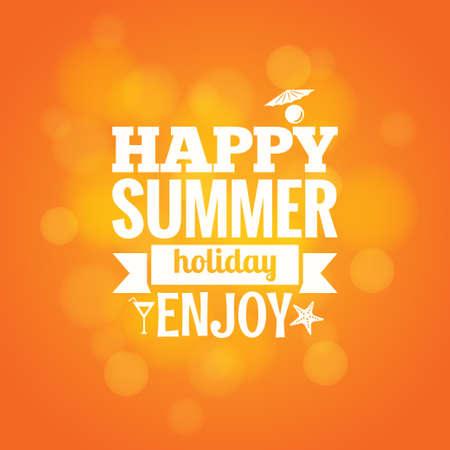 background summer: summer sea holiday design background  Illustration