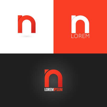 letter N logo design icon set background